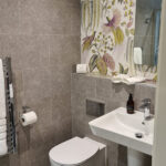 The shower room in our But n' Ben Serviced Apartment Inverness