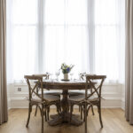 Dining table in our But n' Ben serviced apartment in Inverness
