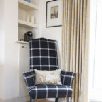 Statement chair in our Croft House Apartment, Art House Inverness