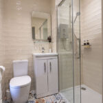 The Shower Room in our Croft House Serviced Apartment, Art House Inverness