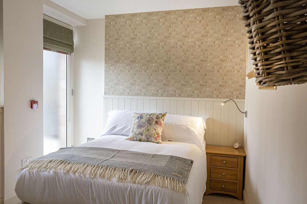 Bedroom in Courtyard apartment, accessible accommodation Inverness