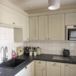 The kitchen in our Courtyard Apartment. accessible accommodation in Inverness