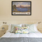 King sized bedroom in our Loch Ness serviced apartment