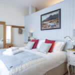 The bedroom in our Isle of Skye Serviced Apartment, Art House Inverness