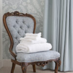 Towels provided at Art House serviced apartments Inverness