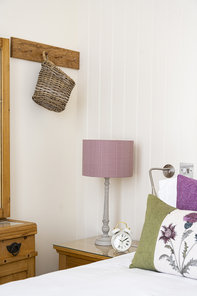Corner of the bedroom in our Scottish Thistle Serviced Apartment in Inverness