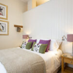 The king sized bedroom in our Scottish Thistle Apartment, Art House Apartments Inverness