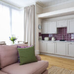 The kitchen area in Scottish Thistle, Art House Serviced Apartments in Inverness