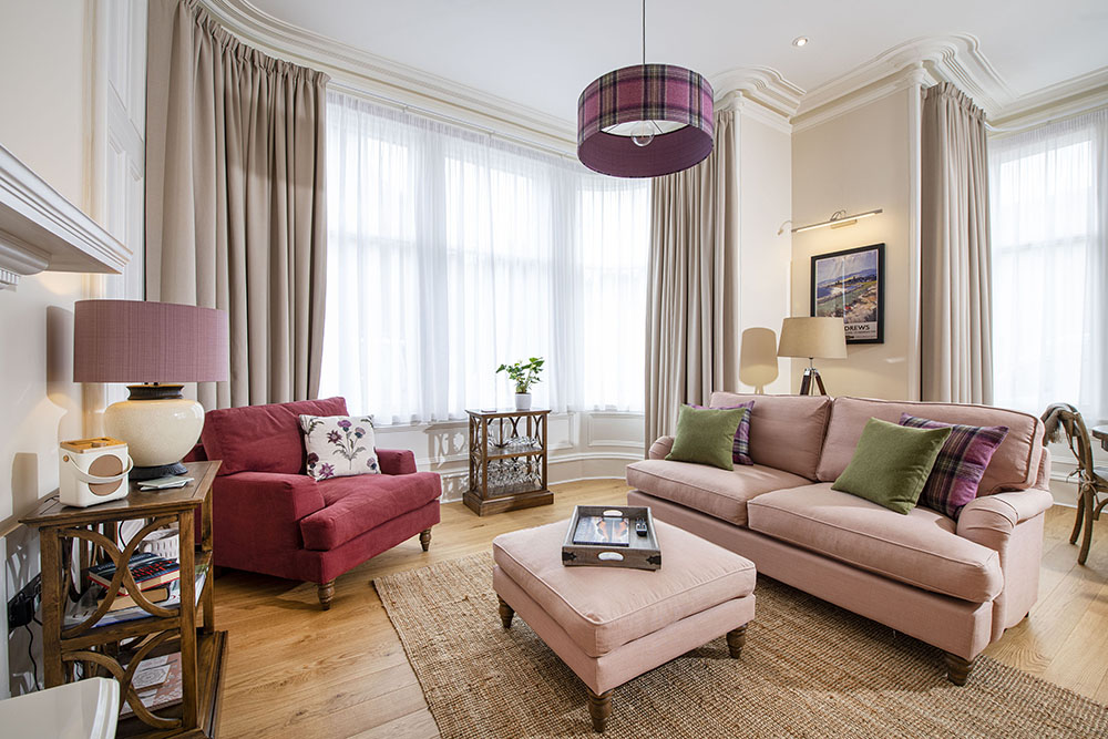 Stylish living space in our Scottish Thistle Serviced Apartment Inverness