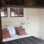 King sized bedroom in our Tree House Serviced Apartment in Inverness
