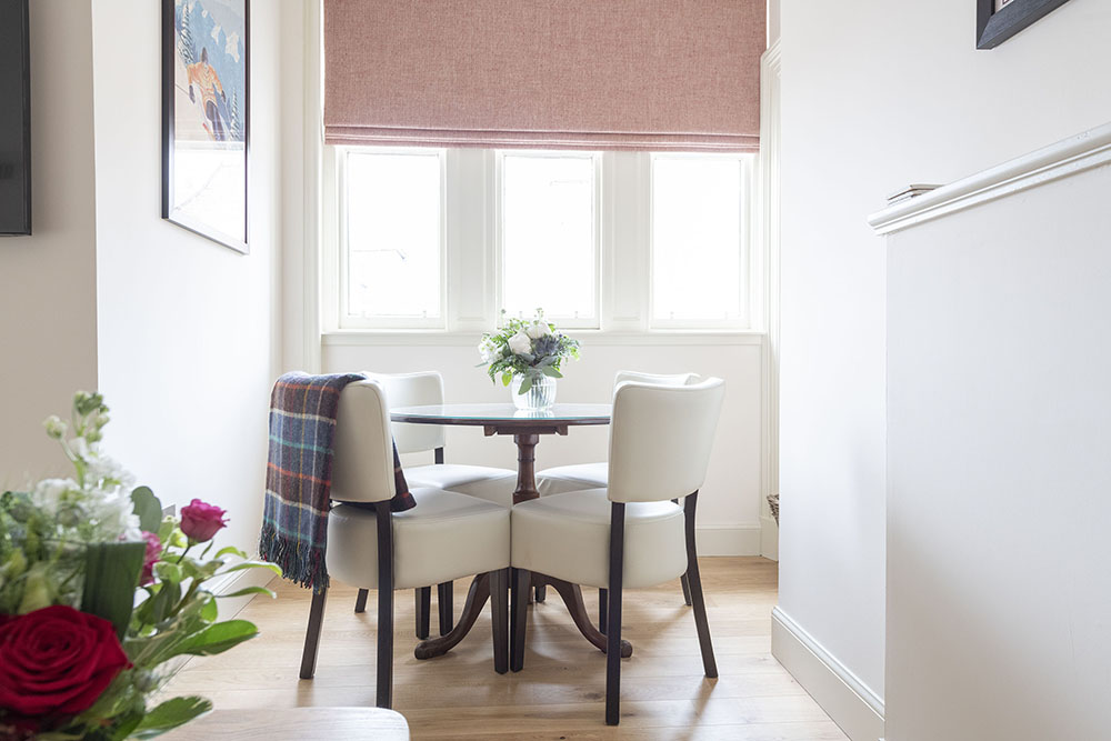 Dining Space within Tree House Apartment, Art House Apartments Inverness