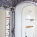 The hall way leading to our Loch Ness 1 bedroom serviced apartment in Inverness