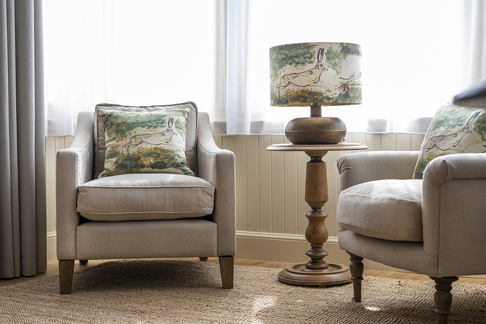 Comfortable seating in our Running Hare Serviced Apartment Inverness
