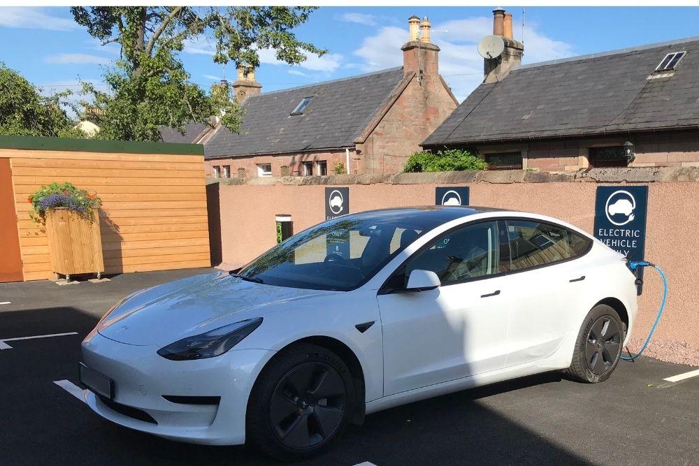 EV Car Charging Art House Apartments Inverness